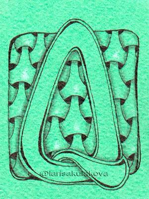 Зенарт алфавит от Larisakulakova