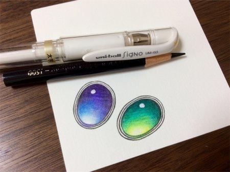 Как нарисовать драгоценные камни акварельными карандашами